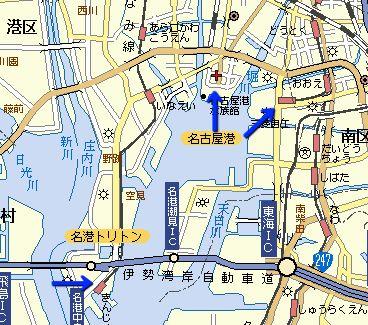 左・あおなみ線、中央・地下鉄、右・名鉄