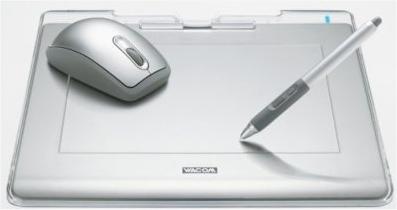 WACOM FAVO ペン&マウス・タブレット A5サイズ CTE-640-S0 シルバー (ソフト5種類付属)