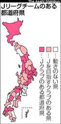 Jを目指す都道府県