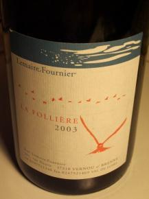 Domaine Founier La folliere 2003