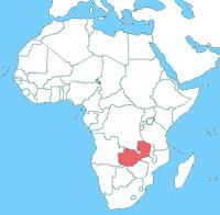 ザンビアの位置