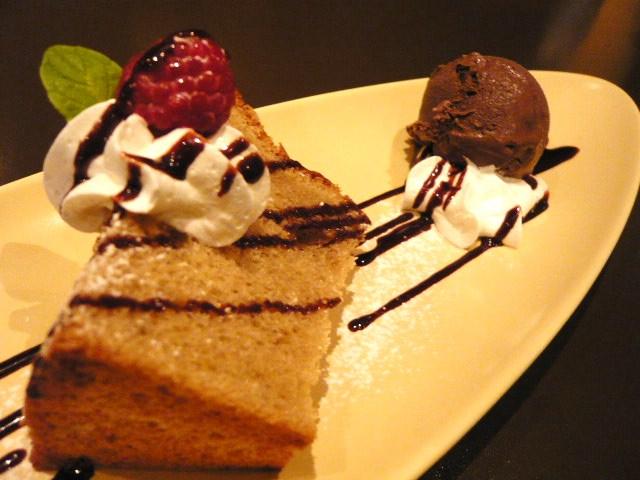 先輩と食事/デザート