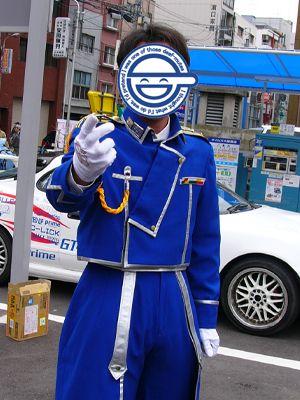 隼大佐さん、戦闘モード。