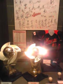 東京ドーム 野球博物館 WBC優勝トロフィー