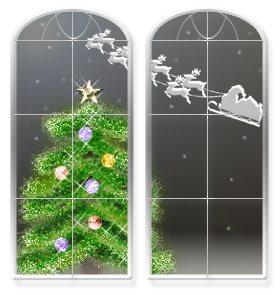 窓からツリー
