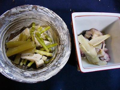 煮物、酢味噌和え