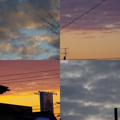 12/23夕方の雲