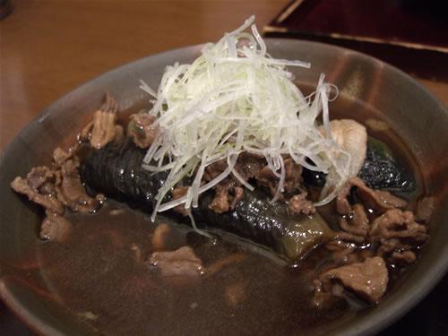 独活庵(うどあん) 茄子と牛肉を炊いた一品