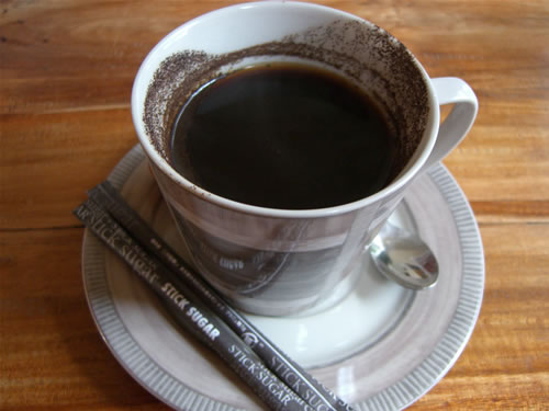 バリコーヒーは、コナではなく、粉コーヒーです。(笑)