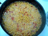 チャナ豆に他の材料を加える