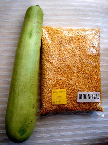 瓜とムング豆