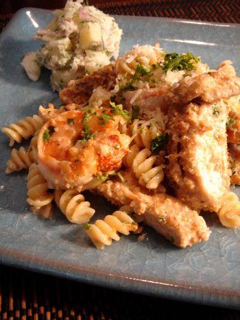 shrimp&chickenpasta