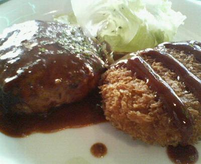 ハンバーグ&牛肉コロッケ