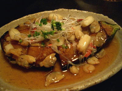 米なすの海鮮あんかけ@bamboo酒家