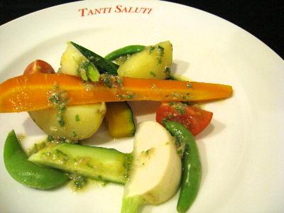 夏野菜のバーニャカウダソース@タンティサルティ