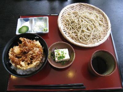 かき揚げ丼セット@水府そば 大和屋