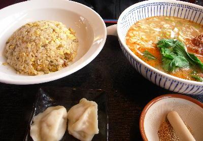 坦々麺セット@老板飯店