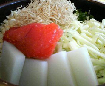 明太+餅+チーズ