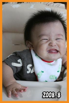 2008 08 10 翔太郎8か月 blog01のコピー