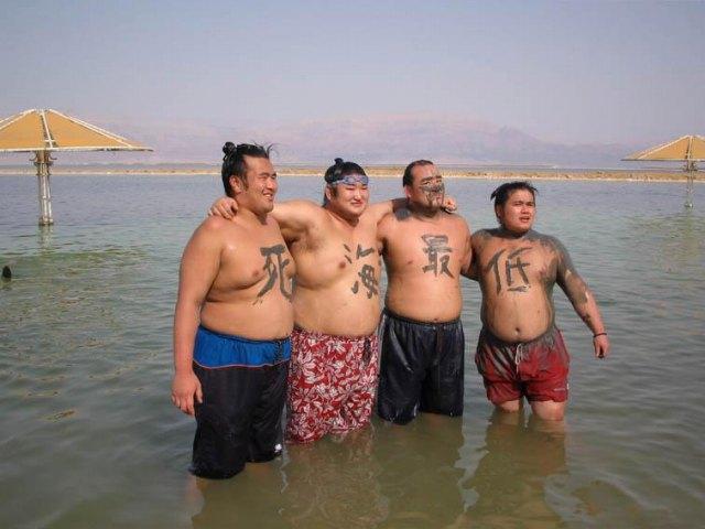 海抜-400mの死海 (世界最低)