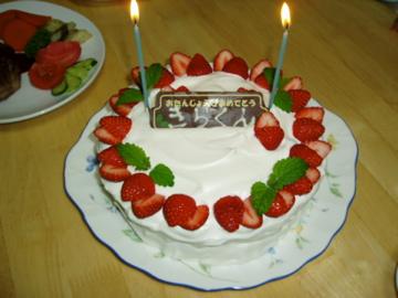 7年振りくらいのデコケーキ