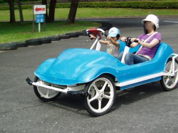 青い車に乗って~