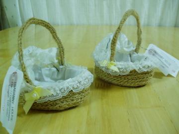 麻紐で編んだクーハン