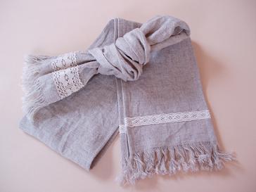リネンのスカーフ①