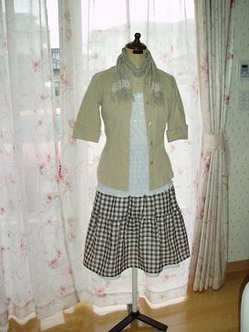 スカート2枚で重ね着