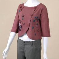 花刺繍カーデ ホコモモラ