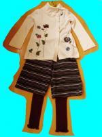 ホコモモラ刺繍ニットコーデ