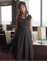 ホコモモラ黒ドレス・シャンタン素材