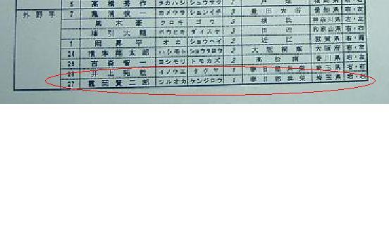 外野手鶴岡