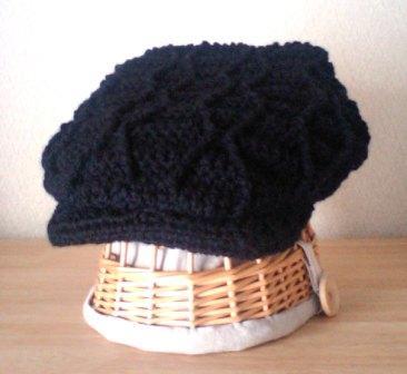ニットハンチング帽