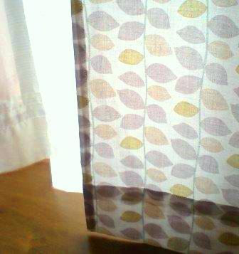 出窓カーテン