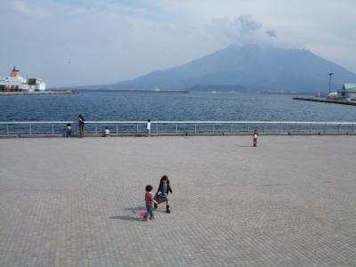 子供と桜島