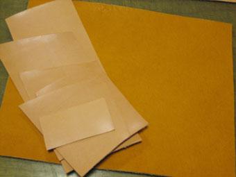 手帳カバーの素材