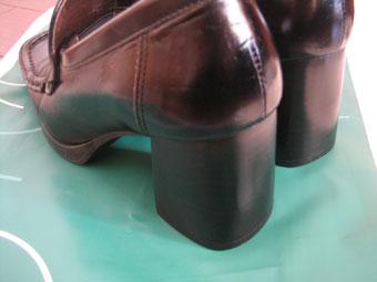 修理後の靴