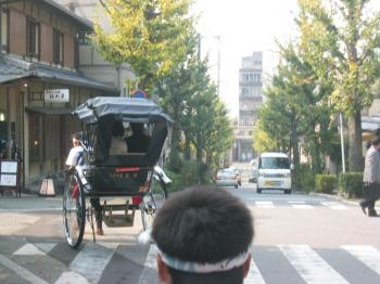 人力車からの景色