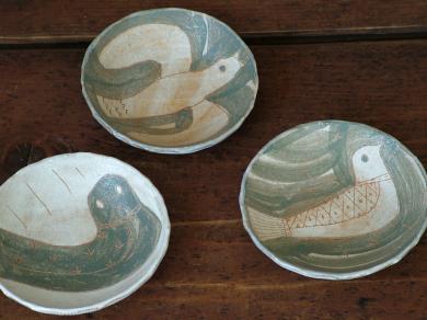 200228鹿児島グレー鳥小皿