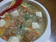 肉団子の春さめスープ