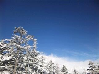 晴天と地吹雪