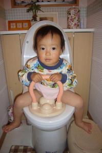 翔夢 初めてのトイレ