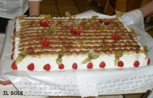 お食事会のケーキ