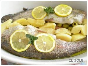 鱒のオーブン焼き