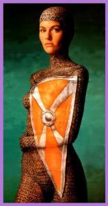 女性のボディーペイント画像