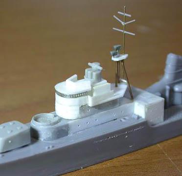 建造中の艦橋