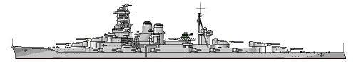 高速戦艦「榛名」第二次改装後