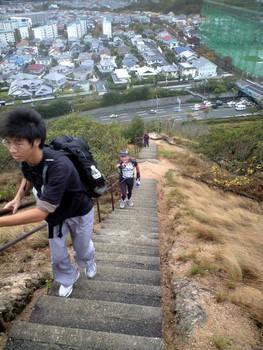 091114六甲縦走_栂尾山階段