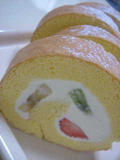 トライフルロールケーキ